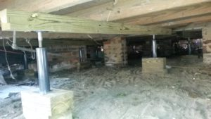 sagging floor joist repair
